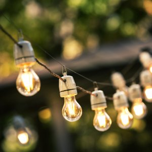 Sznury lampek ogrodowych_Ogród na wiosnę