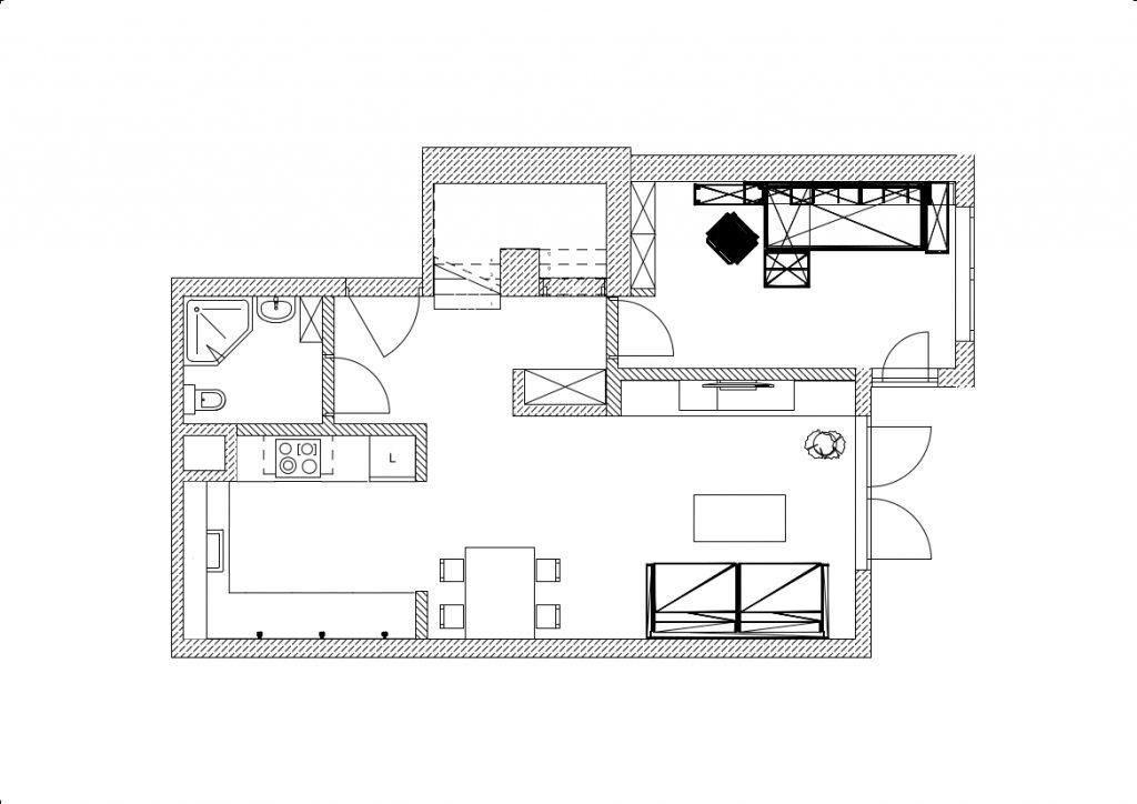 Projekt mieszkania pietro 1 1 1. Poziom 0