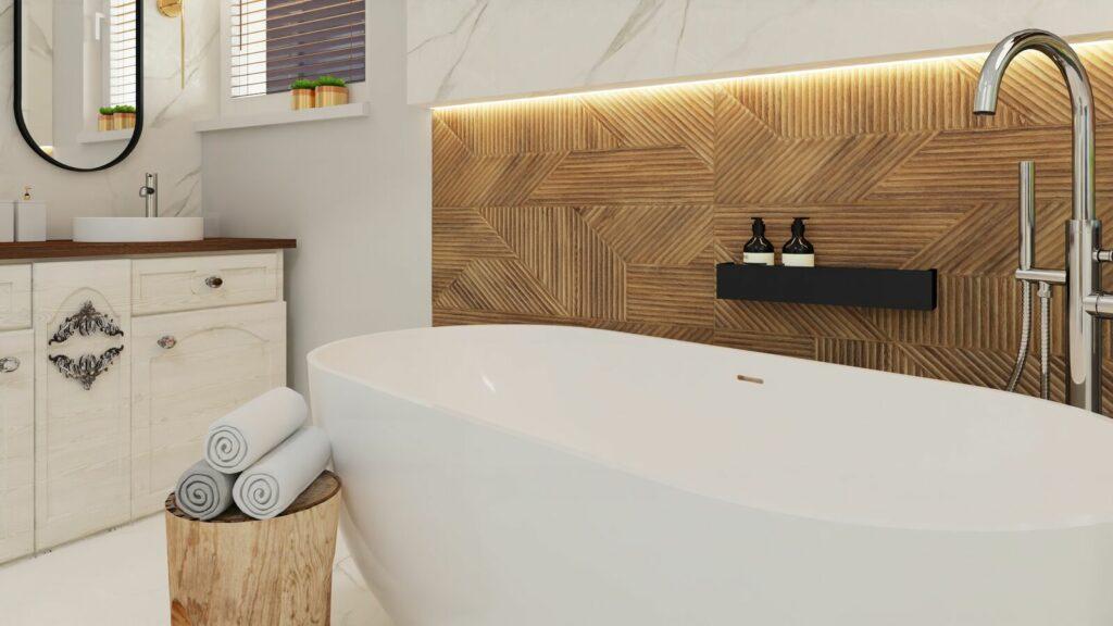 Łazienka wanna i ręczniki- Grodzisk Mazowiecki