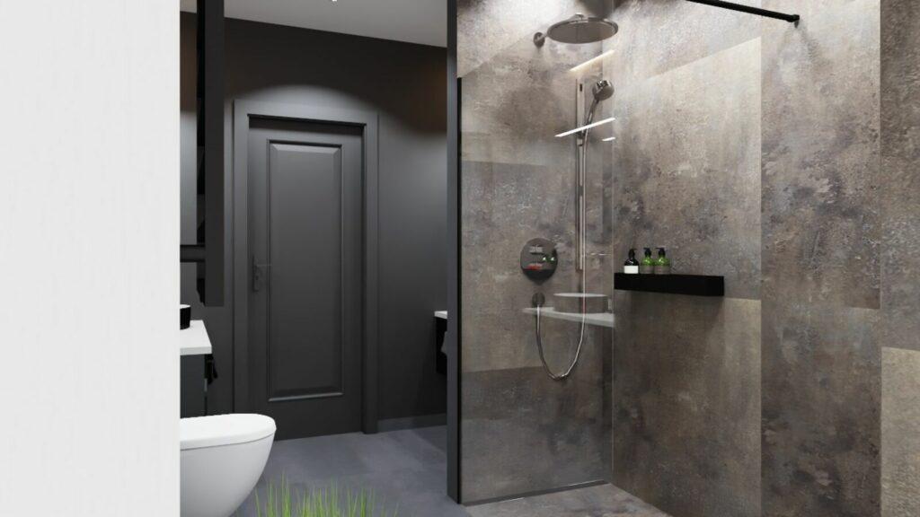 Łazienka Chłopaków kabina prysznicowa- Grodzisk Mazowiecki