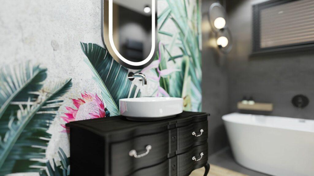 Kran w dużej łazience- dom Pruszków