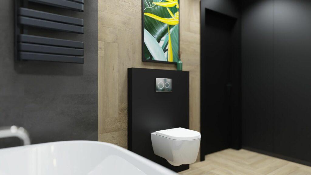 Muszla w dużej łazience- dom Pruszków