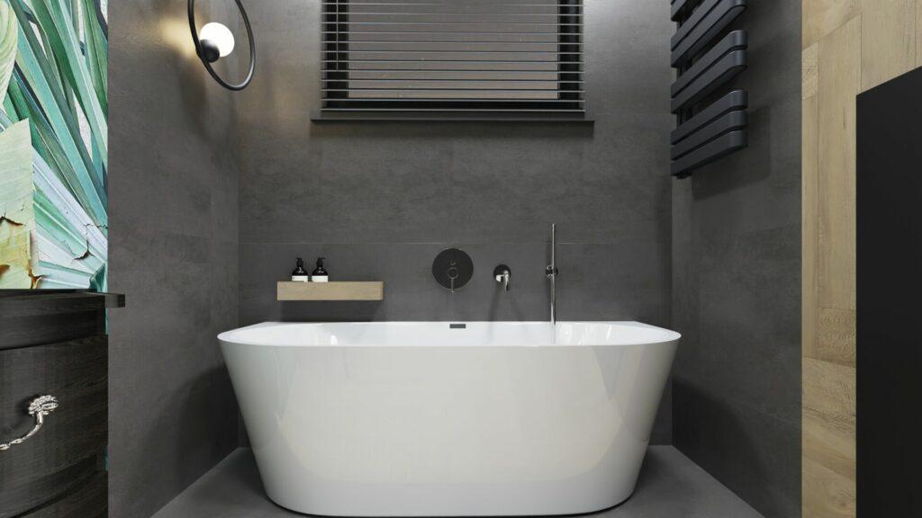 Wanna w dużej łazience- dom Pruszków
