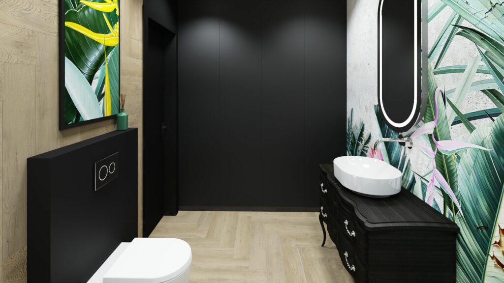 Wejście w dużej łazience- dom Pruszków