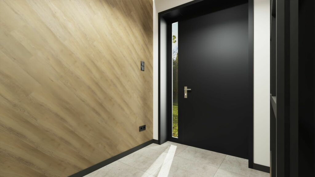 Drzwi w ganku- dom Pruszków