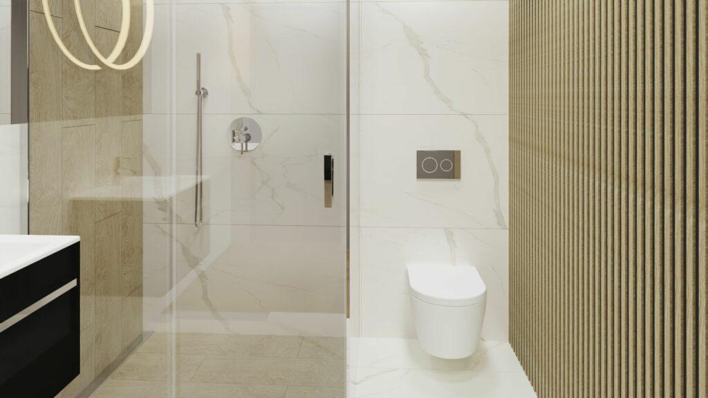 Kabina Prysznicowa w małej łazience- dom Pruszków