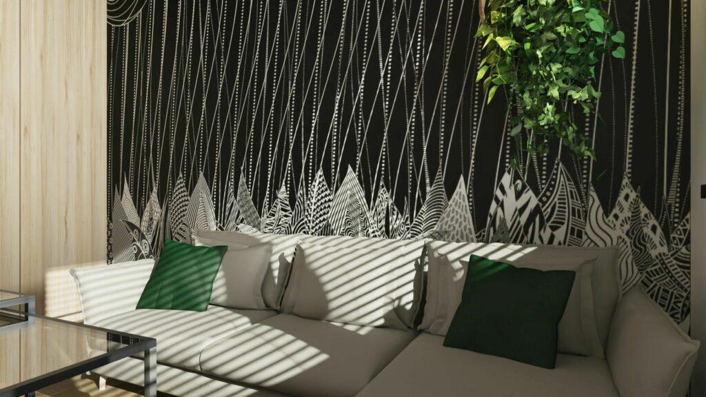 Sypialnia biało czarna- pomysły na małą sypialnię Pruszków