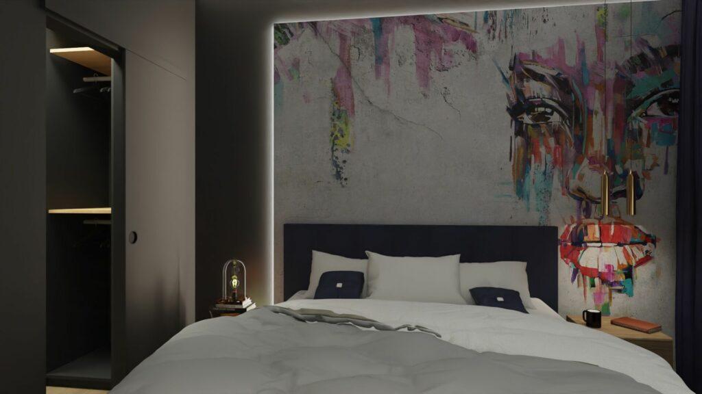 Nocne oświetlenie w sypialni młodzieżowej- Pruszków