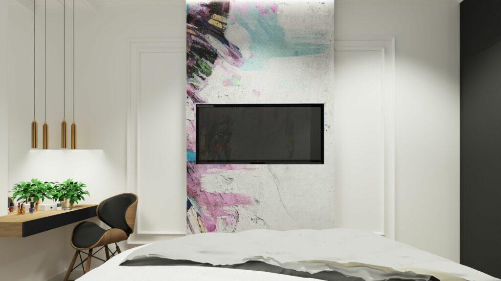 Telewizor w sypialni młodzieżowej- Pruszków