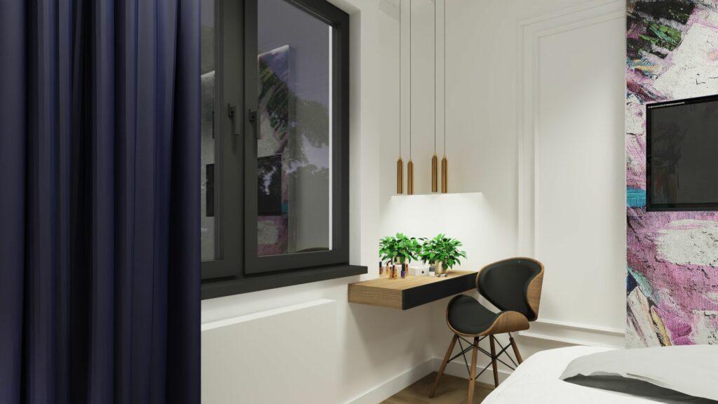 Toaletka w sypialni młodzieżowej- Pruszków