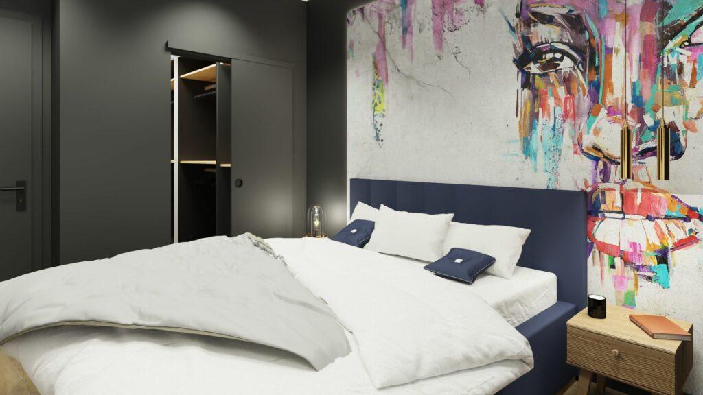 Garderoba w sypialni młodzieżowej- Pruszków