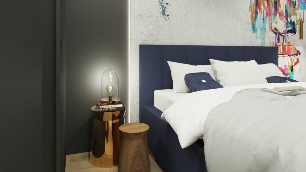 Lampka nocna w sypialni młodzieżowej- Pruszków