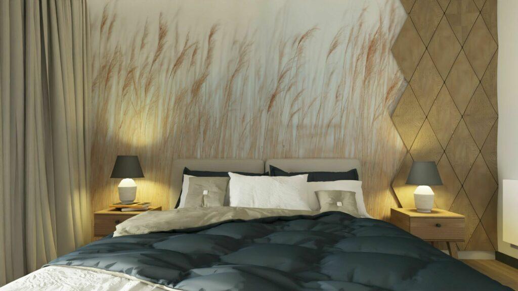 Łóżko w sypialni- Pruszków