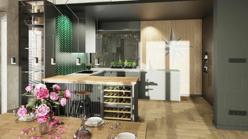 Jadalnia z kuchnią- dom Pruszków
