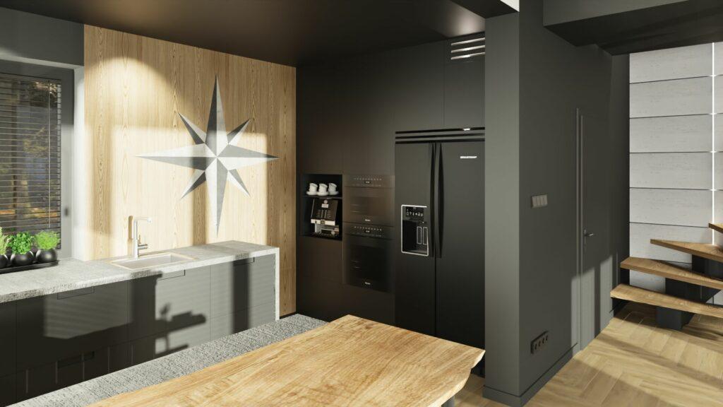 Drewno i nowoczesność w kuchni Pruszków