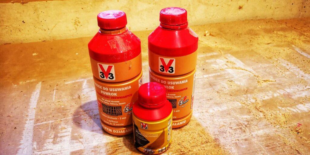 Farba do renowacji mebli- środek do chemicznego czyszczenia drewna