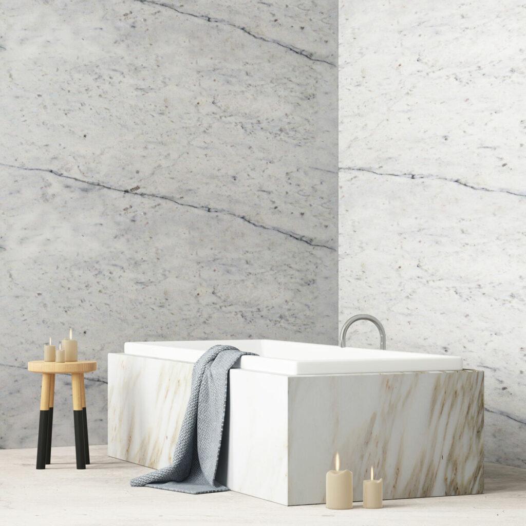 Łazienka w kamieniu-marmur
