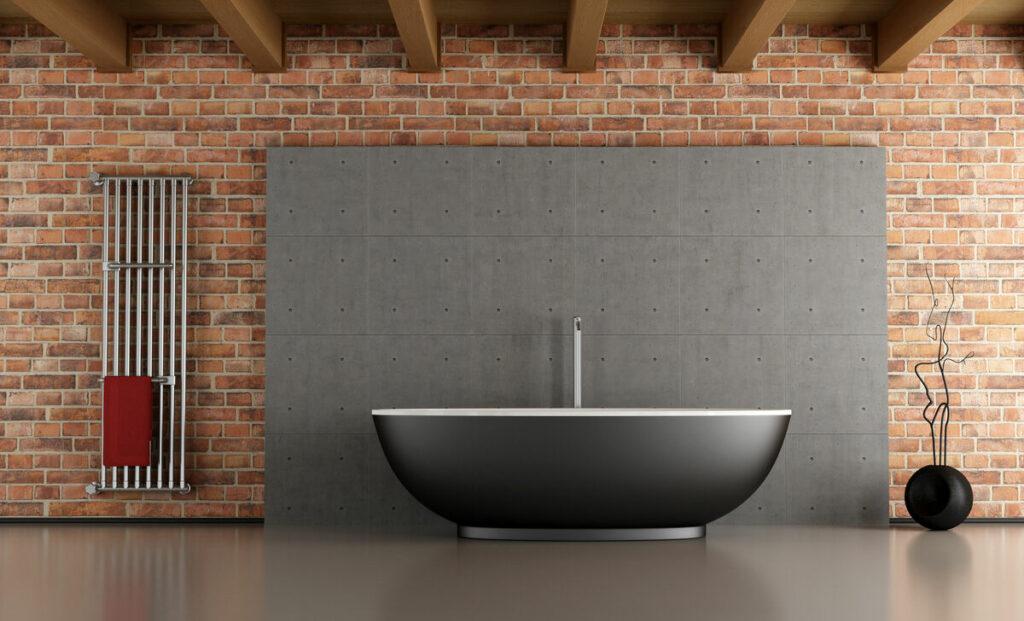 Łazienka z cegły