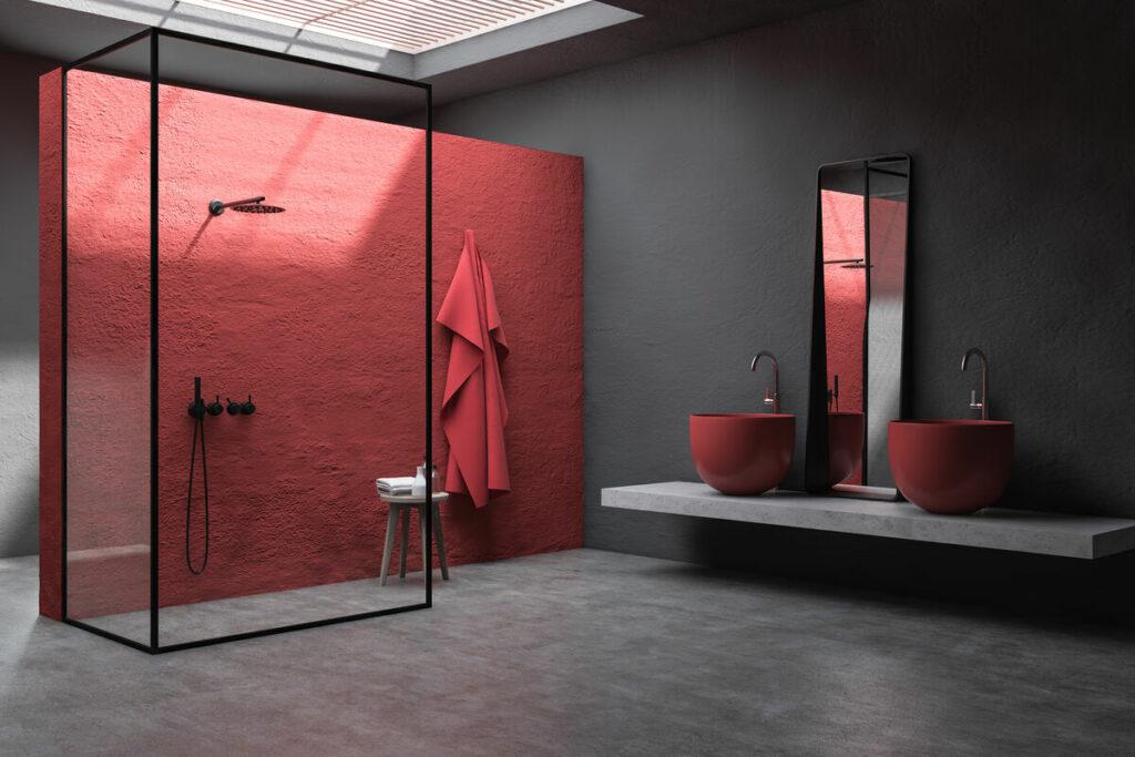 Malowana łazienka