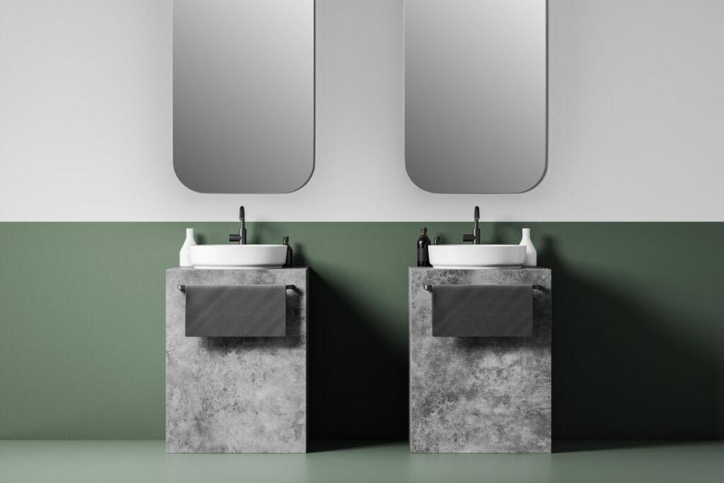 Malowana łazienka- lustra