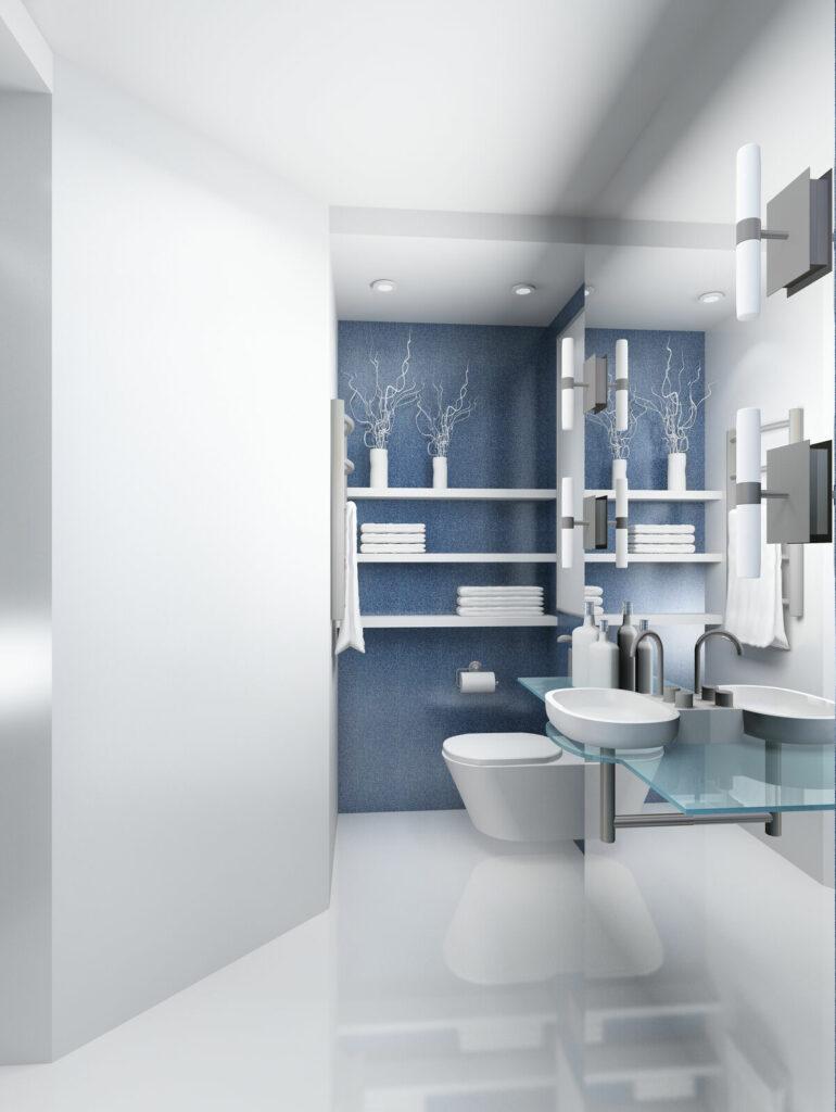 Malowana łazienka- toaleta