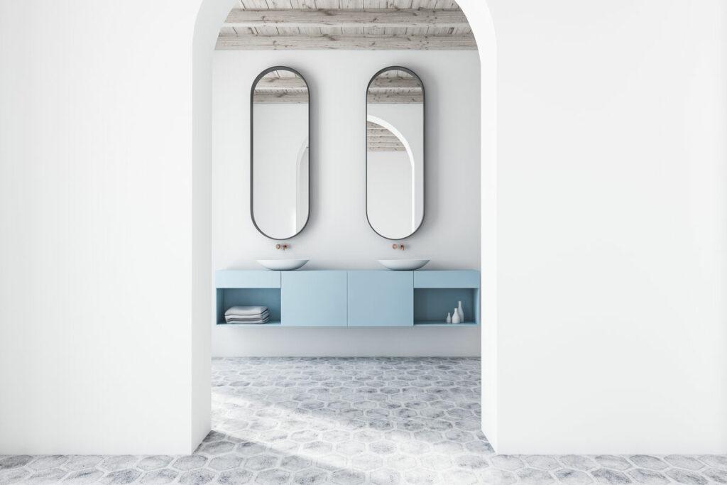 Malowana łazienka- zlew