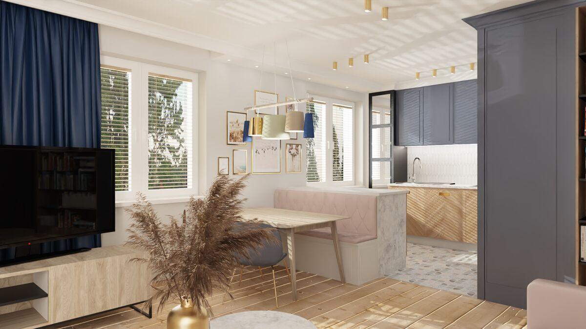 Małe Mieszkanie Salon Z Kuchnią