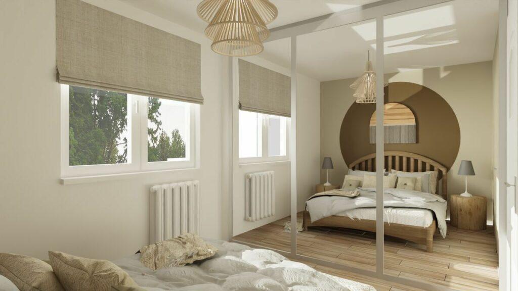 Jak urządzić mieszkanie 50 m sypialnia- Warszawa
