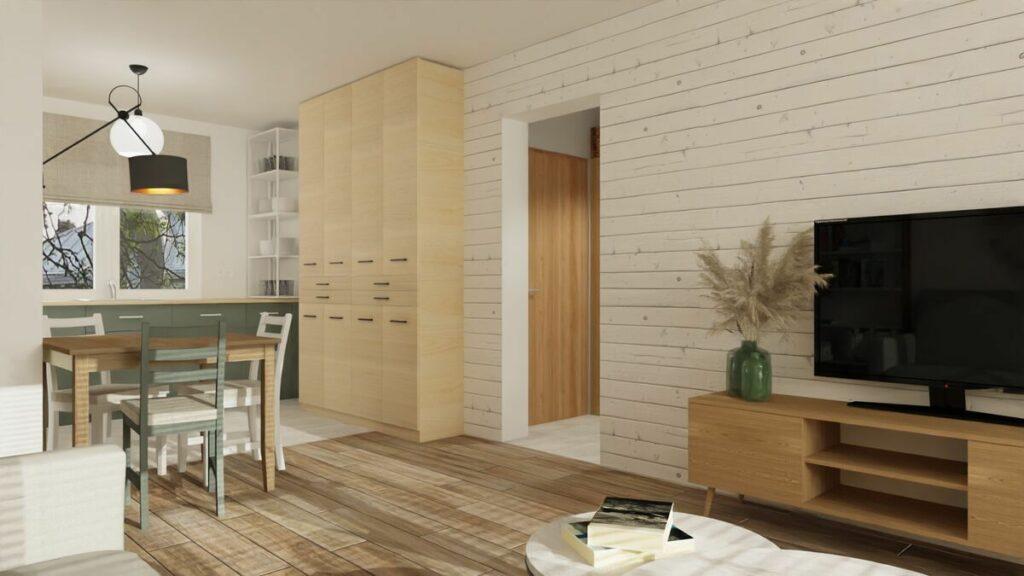 Jak urządzić mieszkanie 50 m szafa- Warszawa