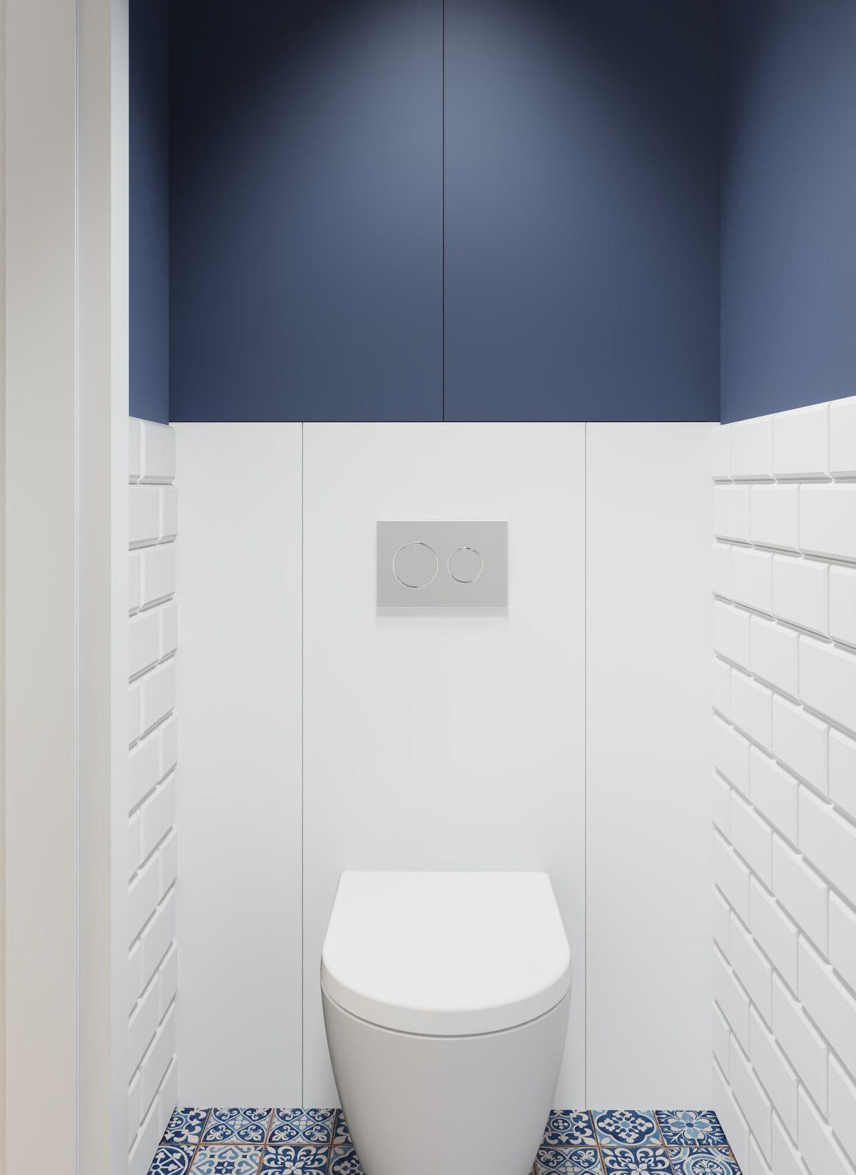 Małe wc w bloku- Warszawa