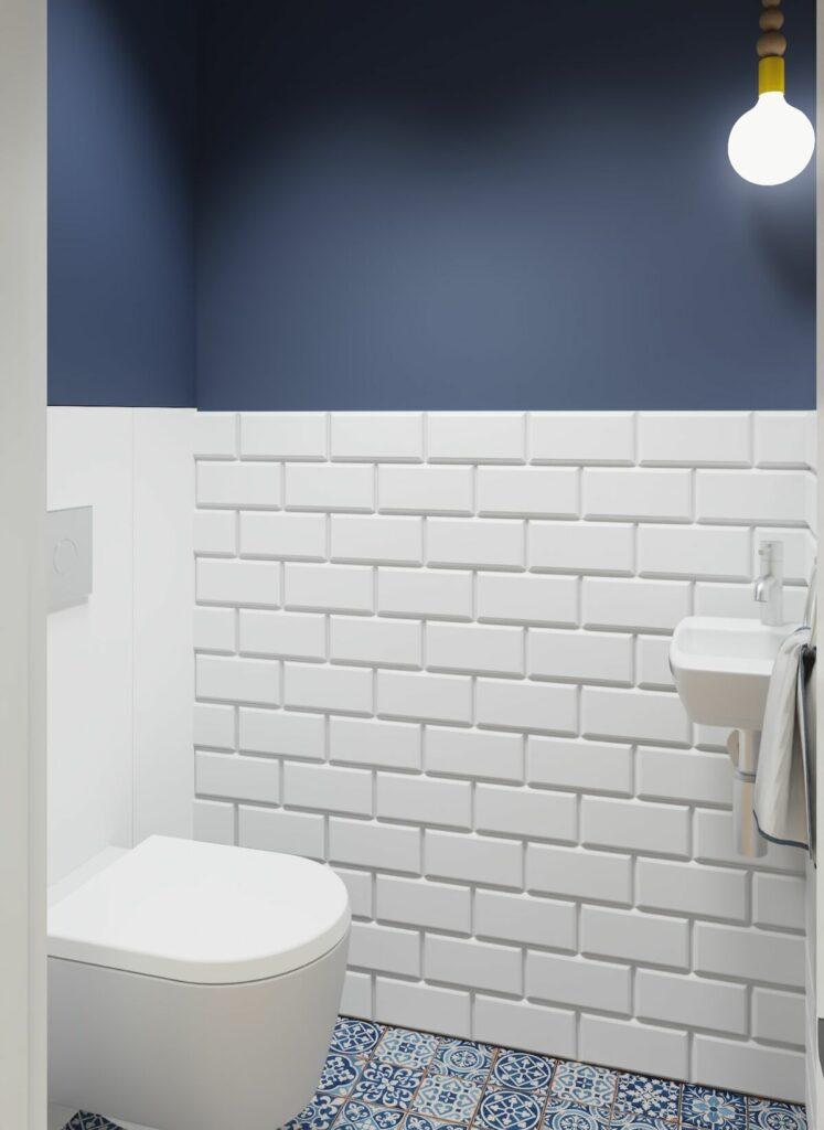 Male wc w bloku cegiełka- Warszawa