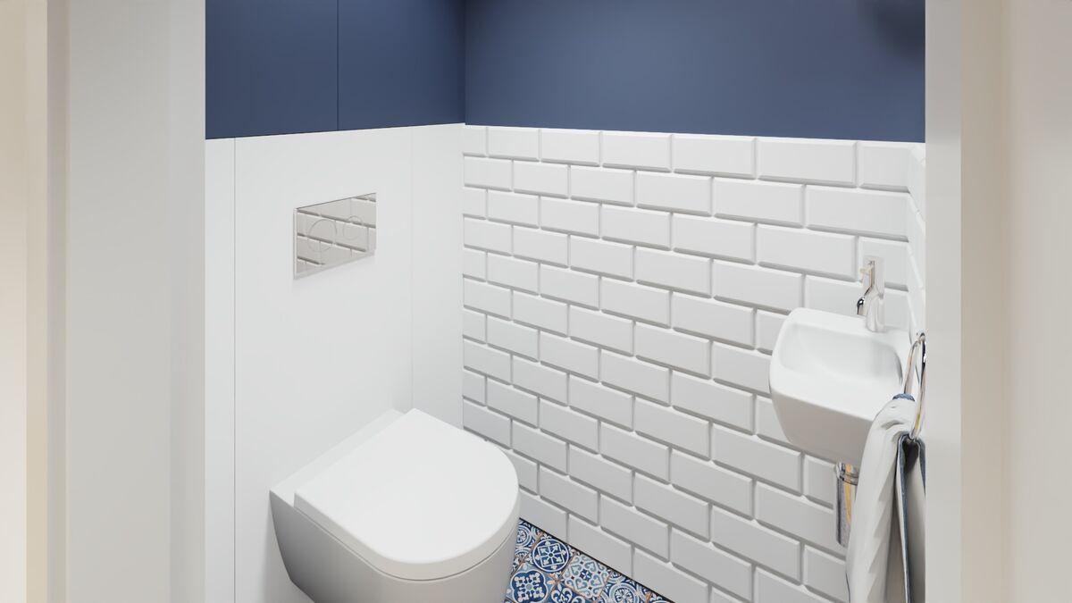 Małe wc z umywalką geberit- Warszawa