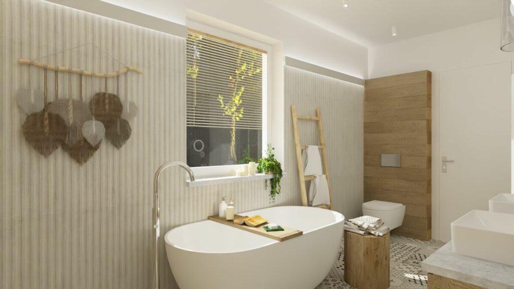 Pomysł na łazienkę z wanną boho- Warszawa